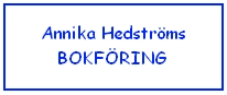 Annika Hedströms Bokföring